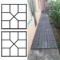 DIY Пластиковая форма для изготовления дорожек, вручную мощение цемента, кирпича, камня, дорожная форма для производства брусчатки, бетонные ...