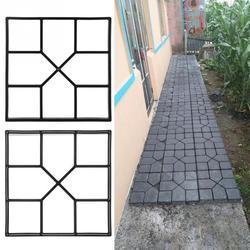 Diy プラスチックパスメーカー型手動で舗装セメントレンガ石道路舗装モールド金型コンクリートツール庭の舗装アクセサリー