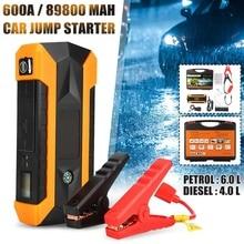 89800 мАч 600A портативный автомобиль скачок стартер 12 В 4USB универсальный автомобильный аккумулятор бустер зарядное устройство Booster power Bank пусковое устройство