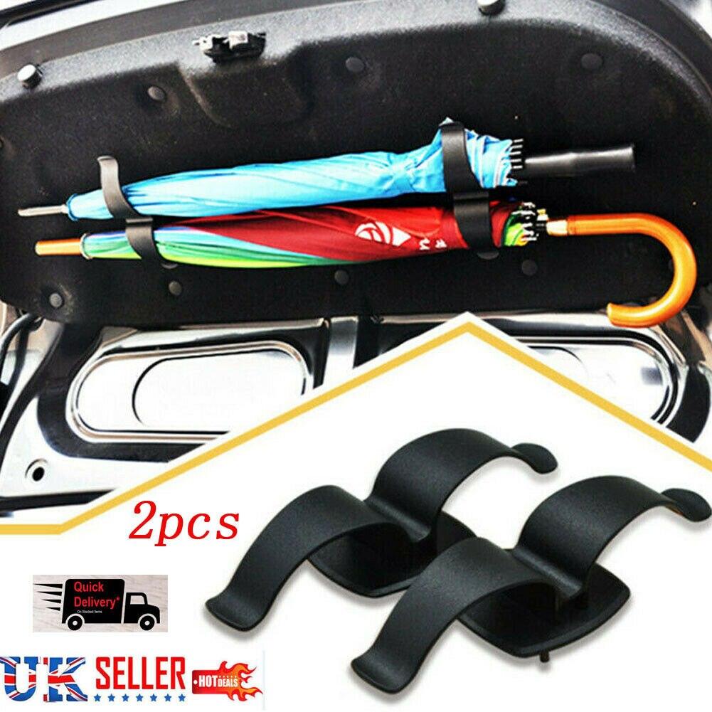 2X siège de voiture appui-tête sangle support parapluie organisateurs sacs coffre botte crochet Clips