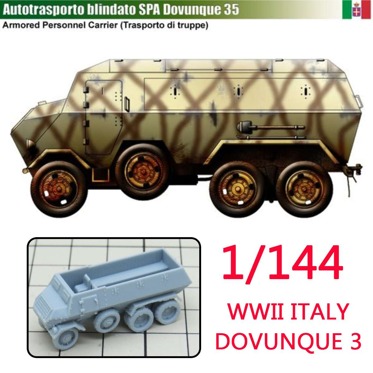 144 Diy Resin Italy Military Model Wheeled Armored Vehicle Kit Diy Assembly Model Kits Sand Table Scene Crafts Car Toys Model Building Kits Model Building Official Website 1