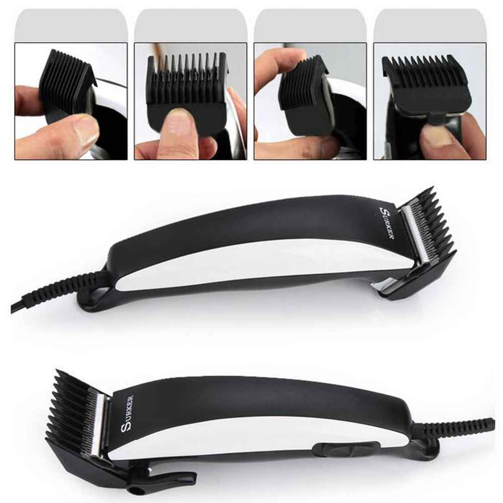 SURKER SK-5601 Household Power Cord Professional Hair Clipper Adjustable Hair Clipper Adult Hair Clippers Hair Trimmer with EU