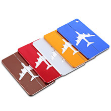 SHINETRIP 2pcs Luggage Tag Label Plane Shape Card Tent Accessories With Name Address(China)