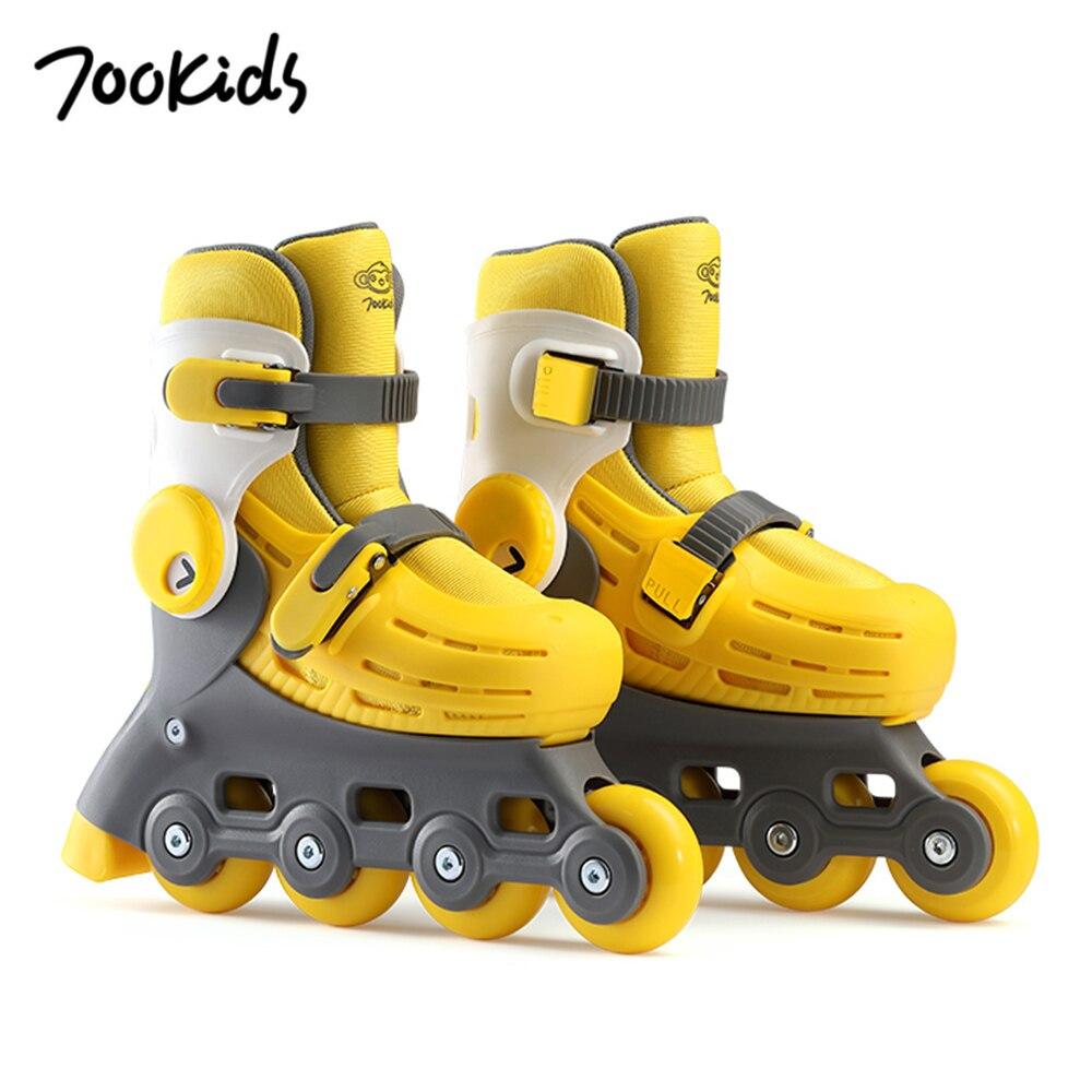 700 enfants patins à roulettes magiques réglables patins à roulettes enfants Stable amovible Liner roue lumineuse pour 16.5 cm-21 cm longueur des pieds