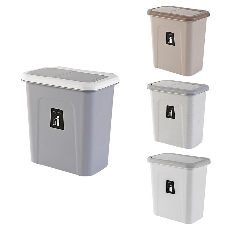 US $15.79 21% OFF|Push top Trash Can Hanging Automatic Return Lid Fruit  Vegetable Pericarp Small Cabinet Cupboard Kitchen Garbage Storage Bucket-in  ...