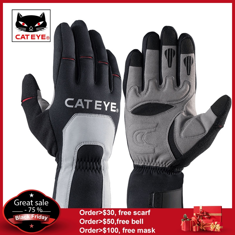 CATEYE Men's Cycling Bike Winter Thermal Gloves Full Finger Windproof Bike Bicycle Motorcycle Hiking Outdoor Sport Gloves Unisex : 91lifestyle
