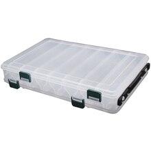 27*18*4,7 см Рыбалка снасти Двусторонняя пластик коробка для рыболовных приманок 14 отделения для хранения Дело BOX Рыбная блесна Pesca интимные аксессуары