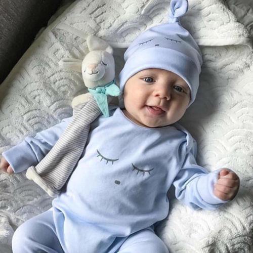 0-18M Toddler Infant Baby Girls Boys   Romper   2019 New Jumpsuit Pants Soild Long Sleeve Outfits Set Clothes Wholesale