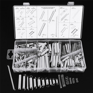 Suleve 200Pcs/box Steel Springs Electrical Drum Extension Tension Spring Exerciser Pressure Suit Metal Assortment Kit Assorted