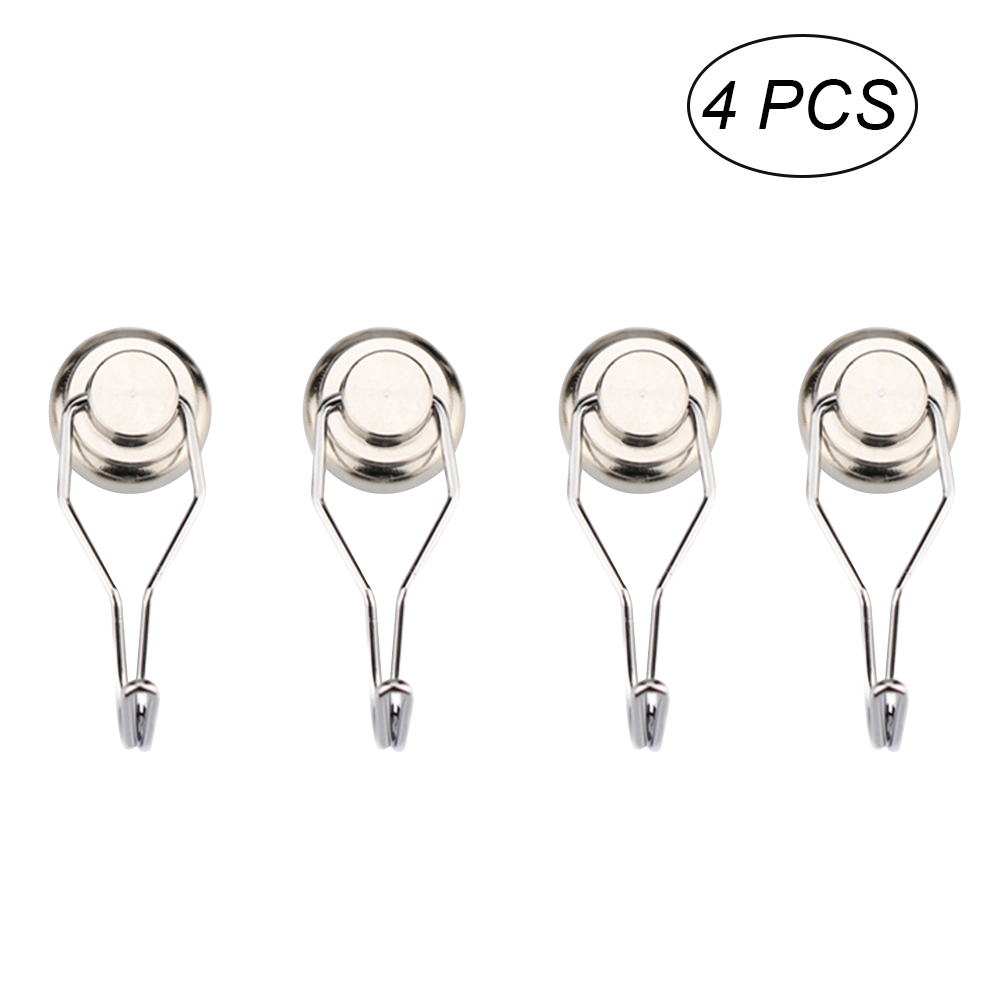 Robe Hooks Home Improvement 4pcs Swivel Swing Magnetic Hooks Powerful Magnetic Metal Hooks Kitchen Bathroom Rustproof Towel Hooks Beneficial To Essential Medulla