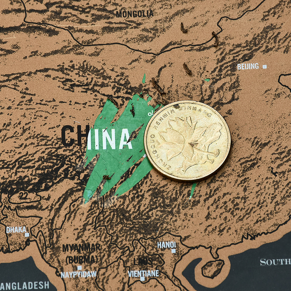 World Map Travel Scratch Off 5