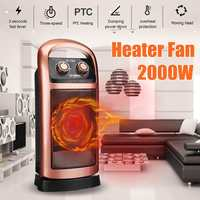 2KW 220V Electric Air Heating Oscillating PTC Ceramic Warm Heater Fan For Home Room Bathroom Office Use