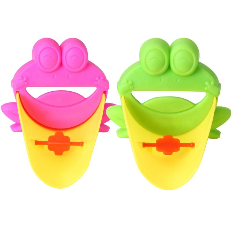 Lovely Cartoon Bathroom Sink Faucet Chute Extender Children Kids Washing Hands Washbasin Accessories 2 Colors