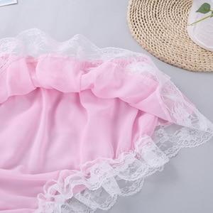 Image 5 - Mens Sissy Fun Lingerie Set Ruffled Lace Sheer Chiffon Sleeveless Crop Top with Skirted Panties Nightwear Male Sexy Underwear