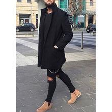 hirigin Men Winter Warm Long Cardigans Pockets Jumper Coat Jacket Smart Casual Outwear Windbreaker Plus Size