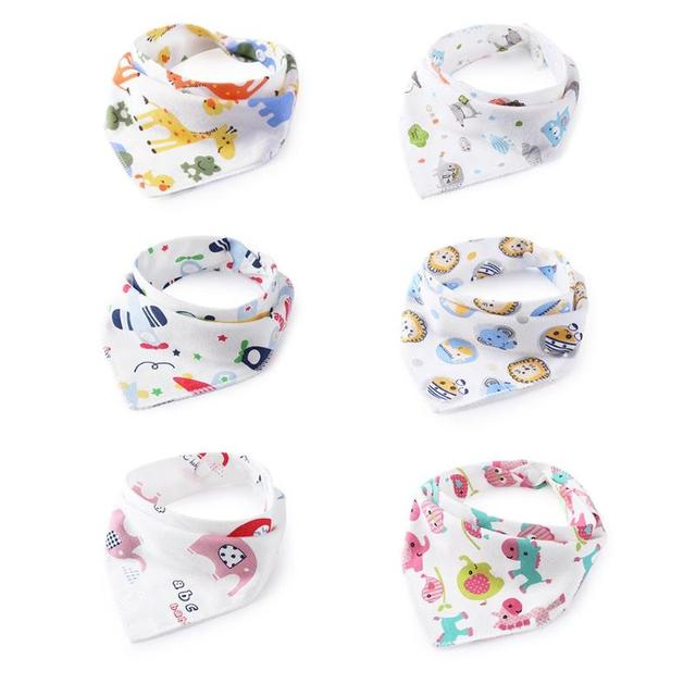 Baberos para bebés ajustables paño de eructo reutilizable para bebés recién nacidos Toalla de Saliva lavable triangular Baberos para bebés eructos de dibujos animados impresos Tod