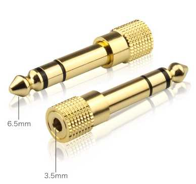 6.5MM Male to 3.5MM Female Jack Plug Audio Headset Microphone Guitar Recording Adapter 6.5 3.5 Converter Aux Cable Gold Plated