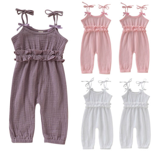 2019 Baby Girl summer clothing solid Jumpsuit   Romper   Long Pants Trousers for newborn infant clothes children kid toddler
