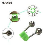 Yernea 3 teile/los Angelrute Biss Alarme Angeln Glocken Angelrute Zubehör Alarm Clamp Spitze Clip Glocken Ring Grün Kunststoff