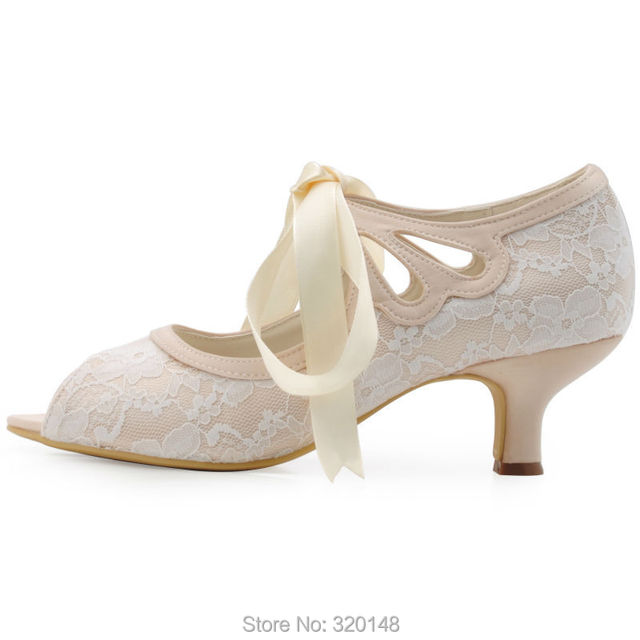 e3e0cf5de8 US $37.0 5% OFF|women wedding shoes Mid heel Mary Jane ribbon tie bride  ladies bridesmaids bridal prom party dress pumps HP1522 Champagne-in  Women's ...