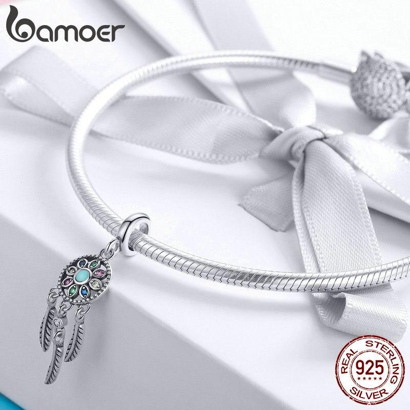 Women's 925 Sterling Silver Dreamcatcher Shaped Pendant Jewelry Necklaces Women Jewelry