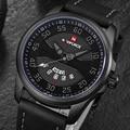 Часы NAVIFORCE мужские  модные  повседневные  кварцевые с кожаным ремешком  армейские  спортивные  наручные
