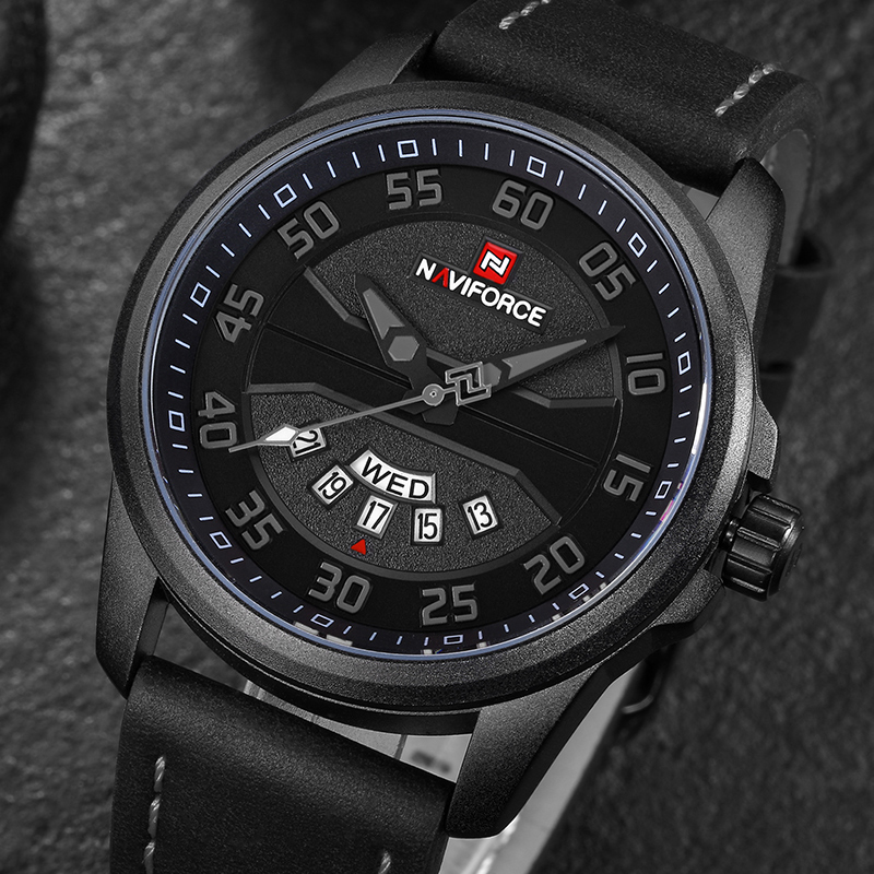 New Top Luxury Brand NAVIFORCE Men's Fashion Casual Watches Men Quartz Clock Man Leather Strap Army Military Sports Wrist Watch