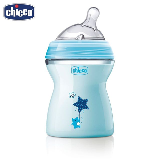 Бутылочка Chicco Natural Feeling, 2 мес.+, сил. соска с наклоном и флексорами, средний поток, 250 мл