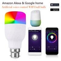 11 Вт магический RGB WiFi голосовой Contro светодиодный светильник E27 B22 wifi-патрон, умный свет лампы совместимы Alexa Google Сохранение лампа Прямая поста...
