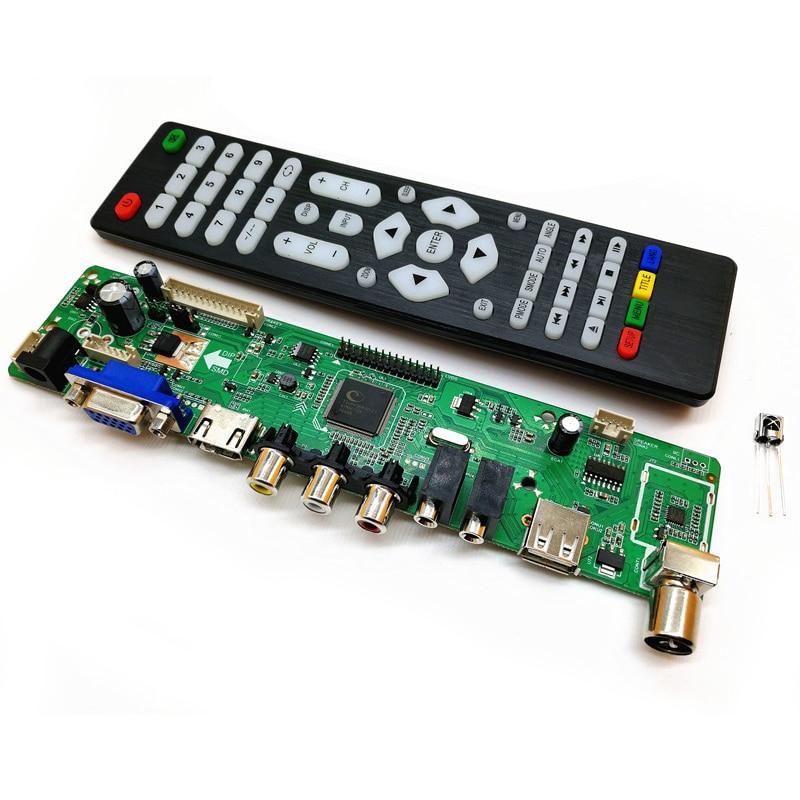 V56 Upgrade V59 Universal Lcd Tv Controller Driver Board Pc/vga/hdmi/usb Interface Heim-audio & Video
