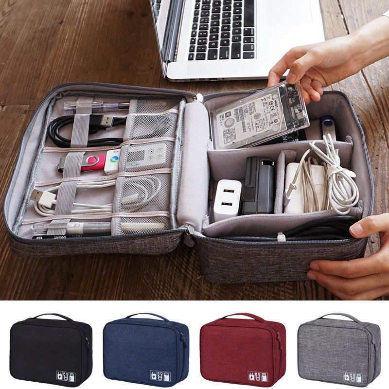 Electronics Accessories Organizer Travel Storage Hand Bag Cable USB Drive Case Data Cable Organizer Waterproof  Storage Bags