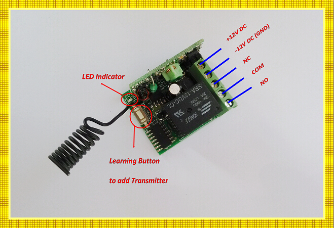 Garege дверь открытая Беспроводная система дистанционного управления 12 в беспроводной пульт дистанционного управления переключатель 3 передатчик и 1 приемник без защелки. Фиксатор