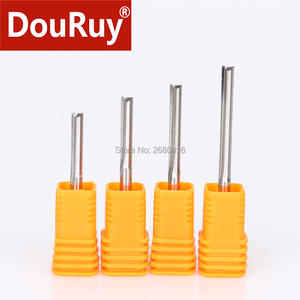 1PC shank D3.175mm 4mm two flutes straight CNC bits cutting tools for MDF, multilayer boards