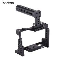 Andoer kamera kafesi + üst kolu kiti Video sabitleyici alüminyum alaşım w/soğuk ayakkabı dağı Sony A7II/A7III /A7SII/A7M3/A7RII kamera