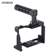 Andoer מצלמה כלוב + למעלה ידית ערכת וידאו מייצב אלומיניום סגסוגת w/קר נעל הר עבור Sony A7II/ a7III/A7SII/A7M3/A7RII מצלמה
