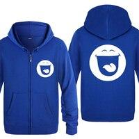 SMILEY FACE ACID HOUSE Cute Anime Cartoon Hoodies Men 2018 Men's Fleece Zipper Cardigans Hooded Sweatshirts