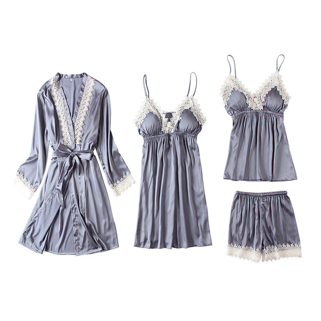 4 PIECES SPAGHETTI STRAP WOMEN SEXY NIGHTWEAR (4 VARIAN)