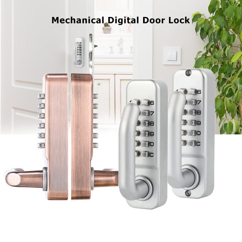 Mechanical Digital Password Door Lock Push Button Keypad Combination Code Keyless Entry Door Lock Waterproof for Smart Home