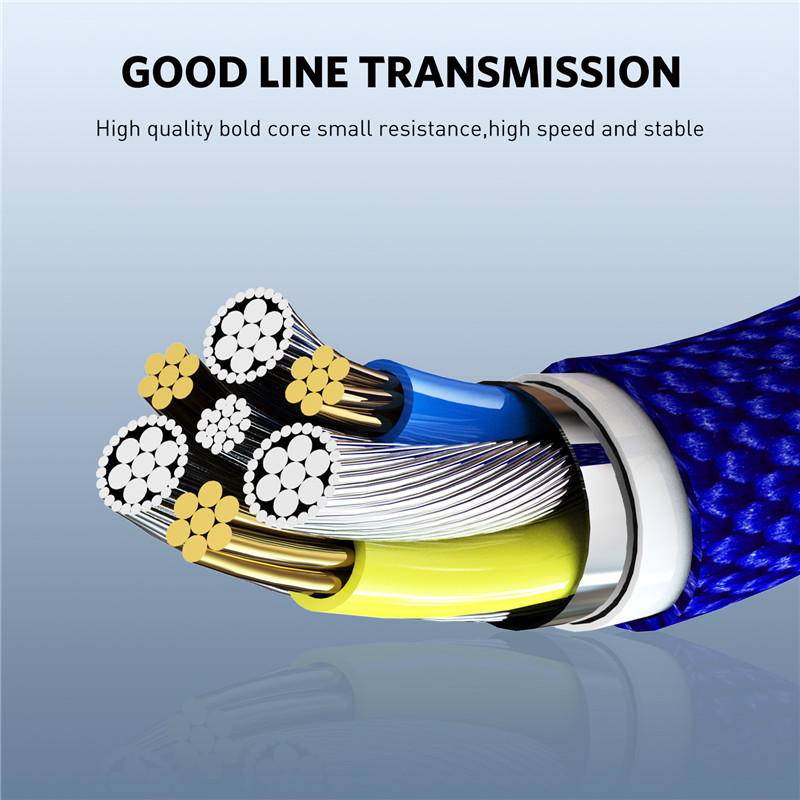 USLION Magnetic USB Cable 3A Fast Charging USB Type C Cable for iPhone X Xs Max Xr 8 7 6 Plus USB C Quick Magnet Cord Data Cable in Mobile Phone Cables from Cellphones Telecommunications