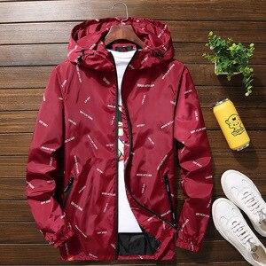 Image 3 - Nuovi uomini giacca con cappuccio Giubbotti Più Il Formato 10XL 9XL 8XL 7XL gli uomini Giacca A Vento Casual Cappotto per Uomo Tuta Sportiva Streetwear giacca