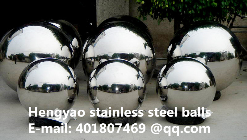 Silver Dia 400mm 40cm 304 stainless steel hollow ball seamless mirror ball family courtyard interior decoration