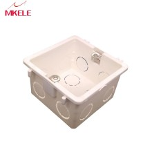 Mounting Box 86*86mm wall Cassette Universal White Wall  for Wall Switch and Plastic Enclosure Socket Back Box Outlet 86mm 86type wallpad waterproof box for 86 86mm wall switch and socket 6 colors optional 45 95 110mm free shipping