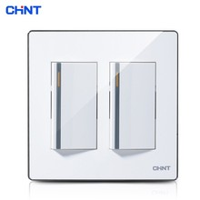 CHINT Light Switches 120 Type Electrical Light Switches Two Gang Two Way Wall Switch Panel chint 118 type push button light switches new5d two position two gang two way switch panel can single control