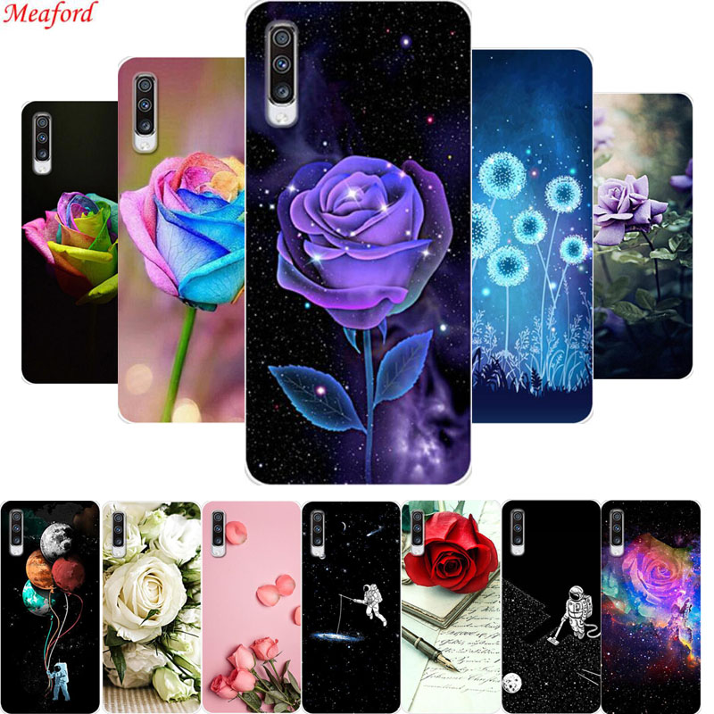 Hot Case For <font><b>Samsung</b></font> <font><b>A70</b></font> <font><b>2019</b></font> Case A705F A 70 <font><b>Cover</b></font> Silicone Soft TPU Phone Case For <font><b>Samsung</b></font> Galaxy <font><b>A70</b></font> Case Funda Floral Coque image