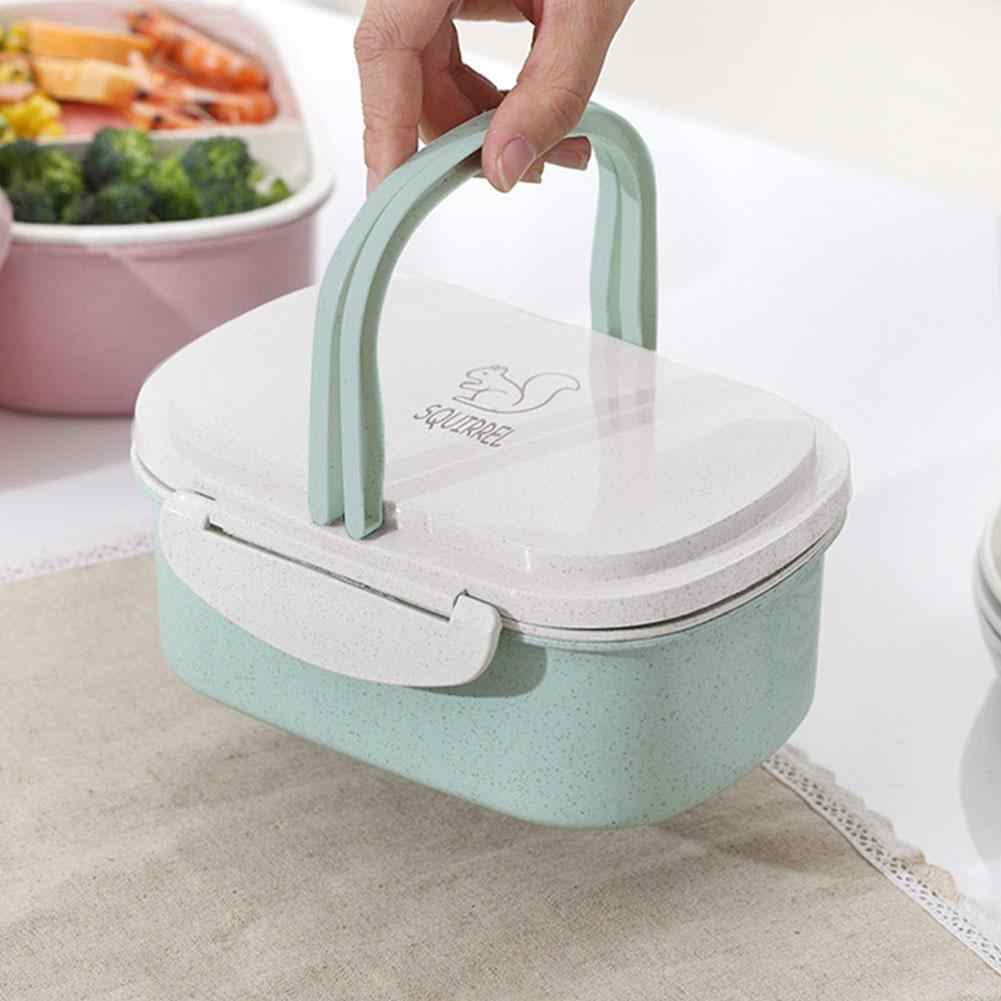 Caixa de almoço bento box Portátil Dos Desenhos Animados de palha de Trigo Ecológico Microwavable recipiente de armazenamento de alimentos para crianças de estudantes do ensino médio