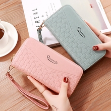 Fashion Double Zipper Ladies Clutch Bag Large-Capacity Double-Layer Multi-Card Mobile Phone Packa