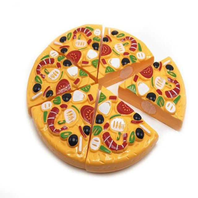 9Pcs/Set Kids Pizza Slices Food Pretend Play Toy Dinner Kitchen Toys Cutting Girls Boys Children Educational Toys with Knife 4