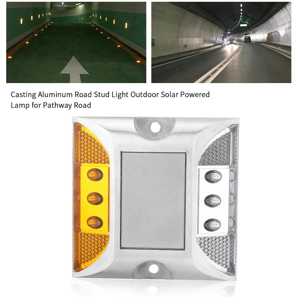 Alert 12-24v Casting Aluminum Road Stud Light Outdoor Solar Powered Lamp For Pathway Road Stud Light