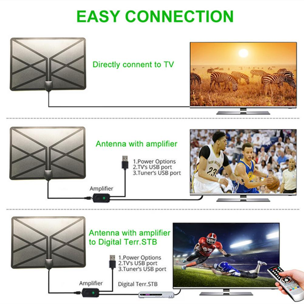 Image 3 - HD Digital TV Antenna Long 150 Miles Range Support 4K 1080P HDTV Amplifier Signal Booster Antenna Signal Amplifier Carton-in TV Antenna from Consumer Electronics