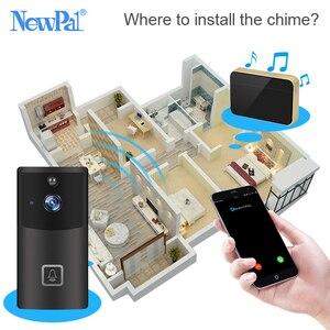 Image 5 - Wi fi campainha câmera de vídeo sem fio interfone visual chamada campainha da porta câmera de segurança em casa 720p carrilhão anel telefone da porta gravação ir